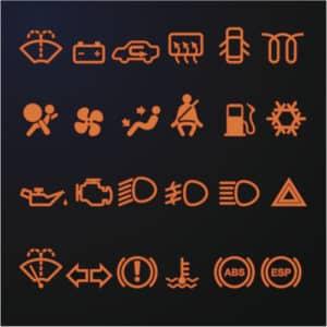 Car Auto Dashboard Lights